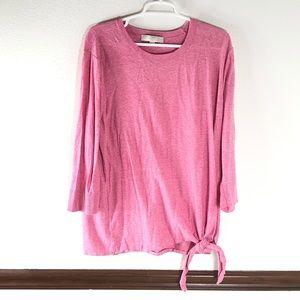 Loft plus pink knit top size 20/22